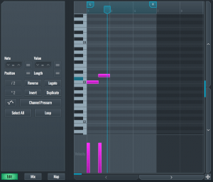 SoundBridge Piano roll